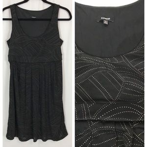 Express Metallic Dot Sleeveless Dress Sz S